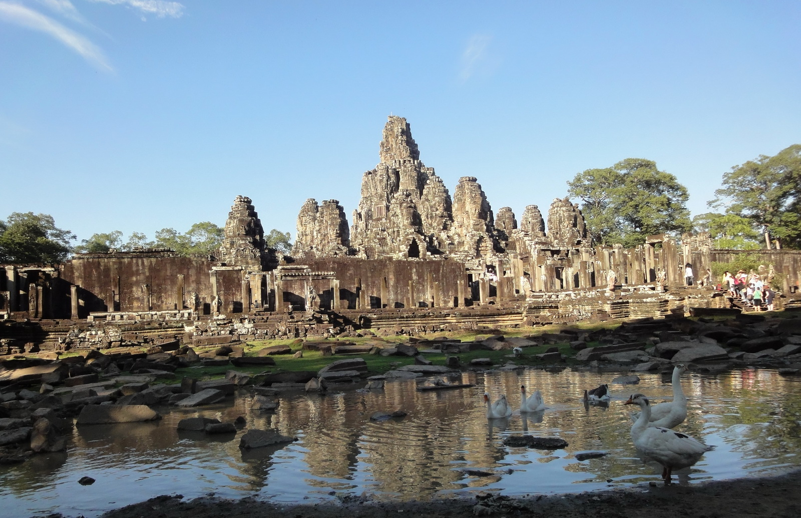 Bayon Temple panoramic views of Northern outer walls Angkor Jan 2010 15