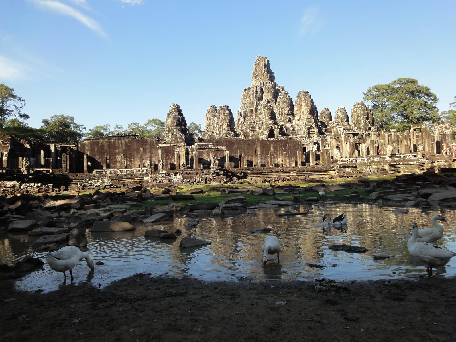 Bayon Temple panoramic views of Northern outer walls Angkor Jan 2010 16