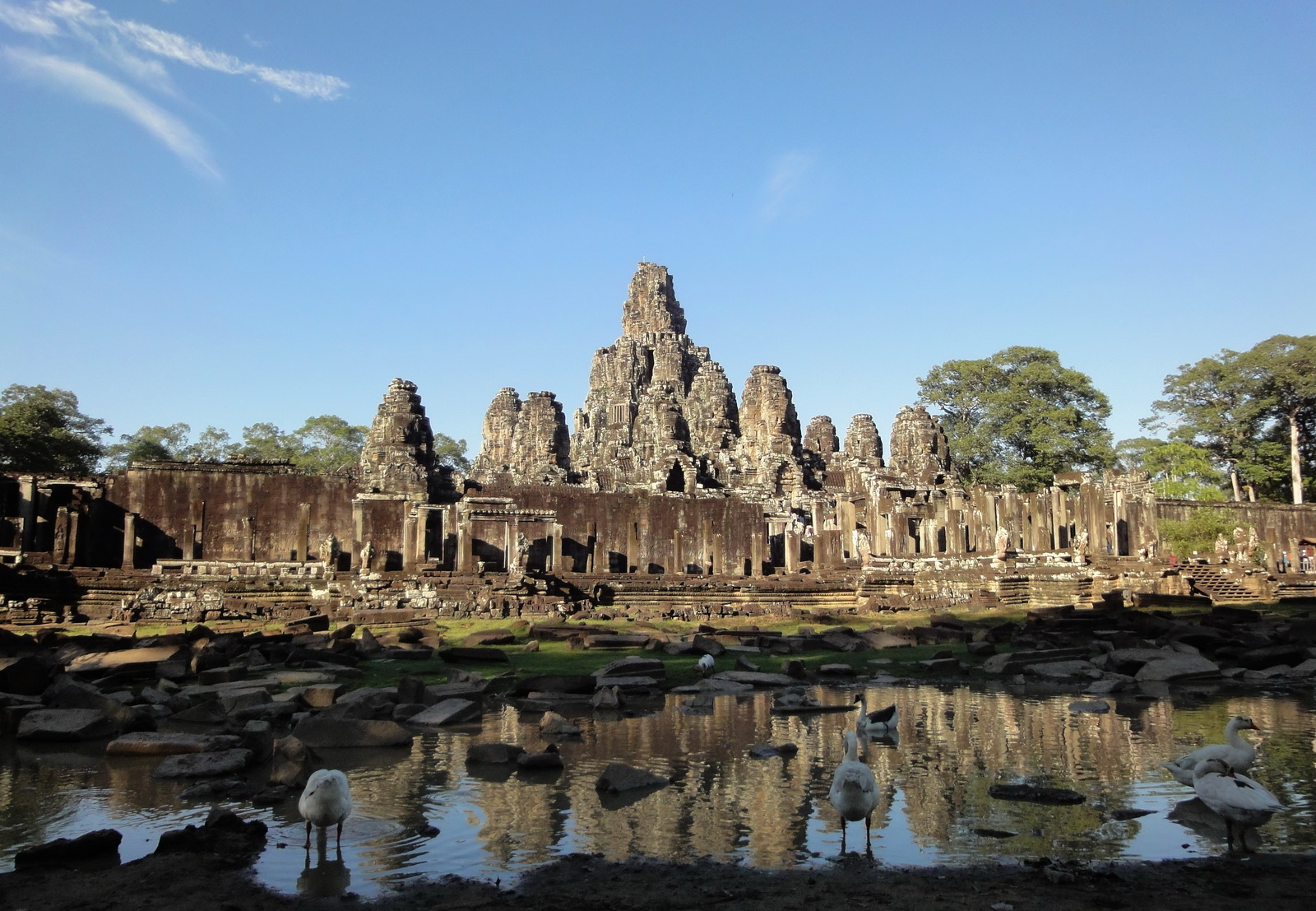 Bayon Temple panoramic views of Northern outer walls Angkor Jan 2010 18