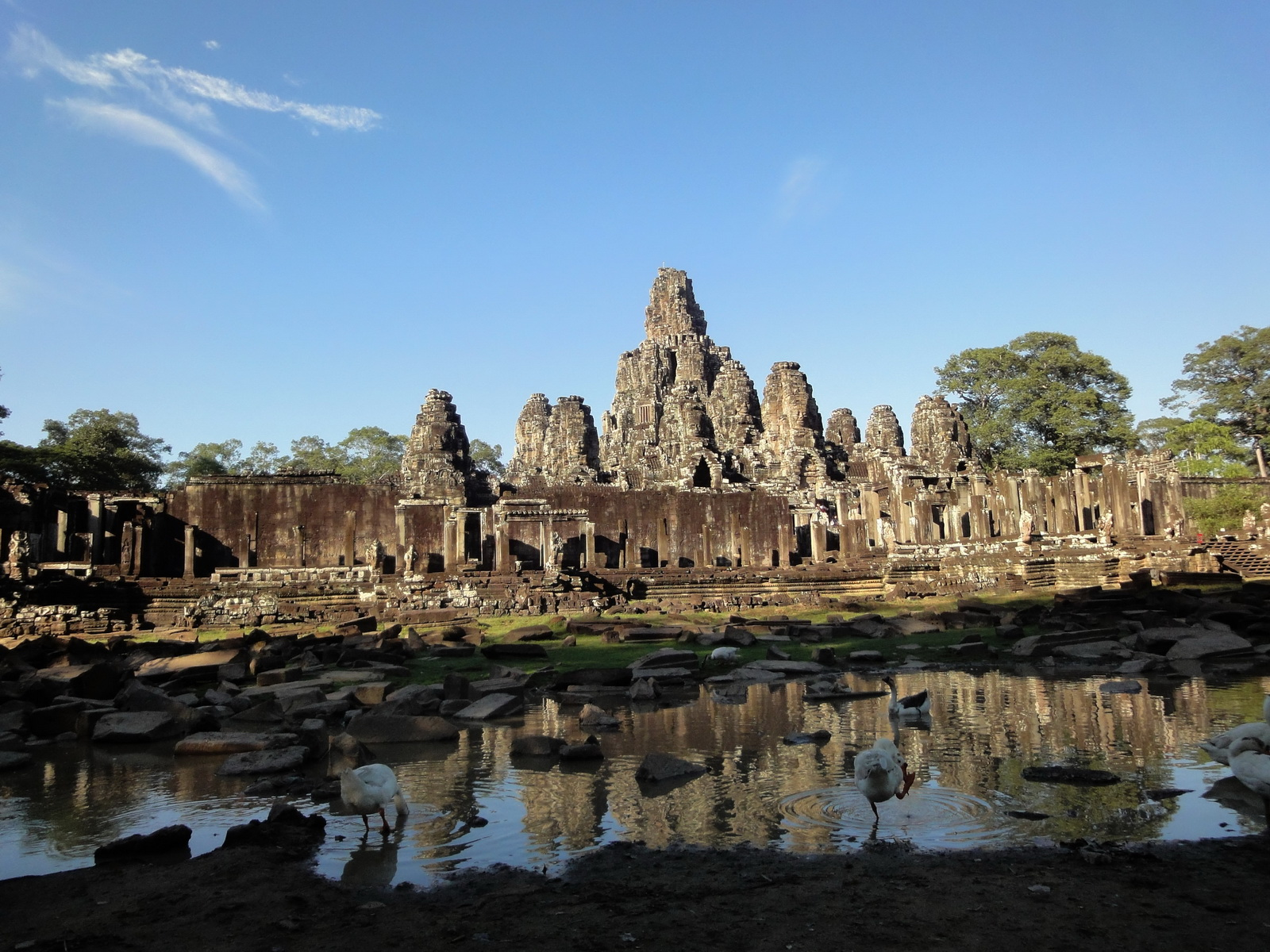 Bayon Temple panoramic views of Northern outer walls Angkor Jan 2010 19