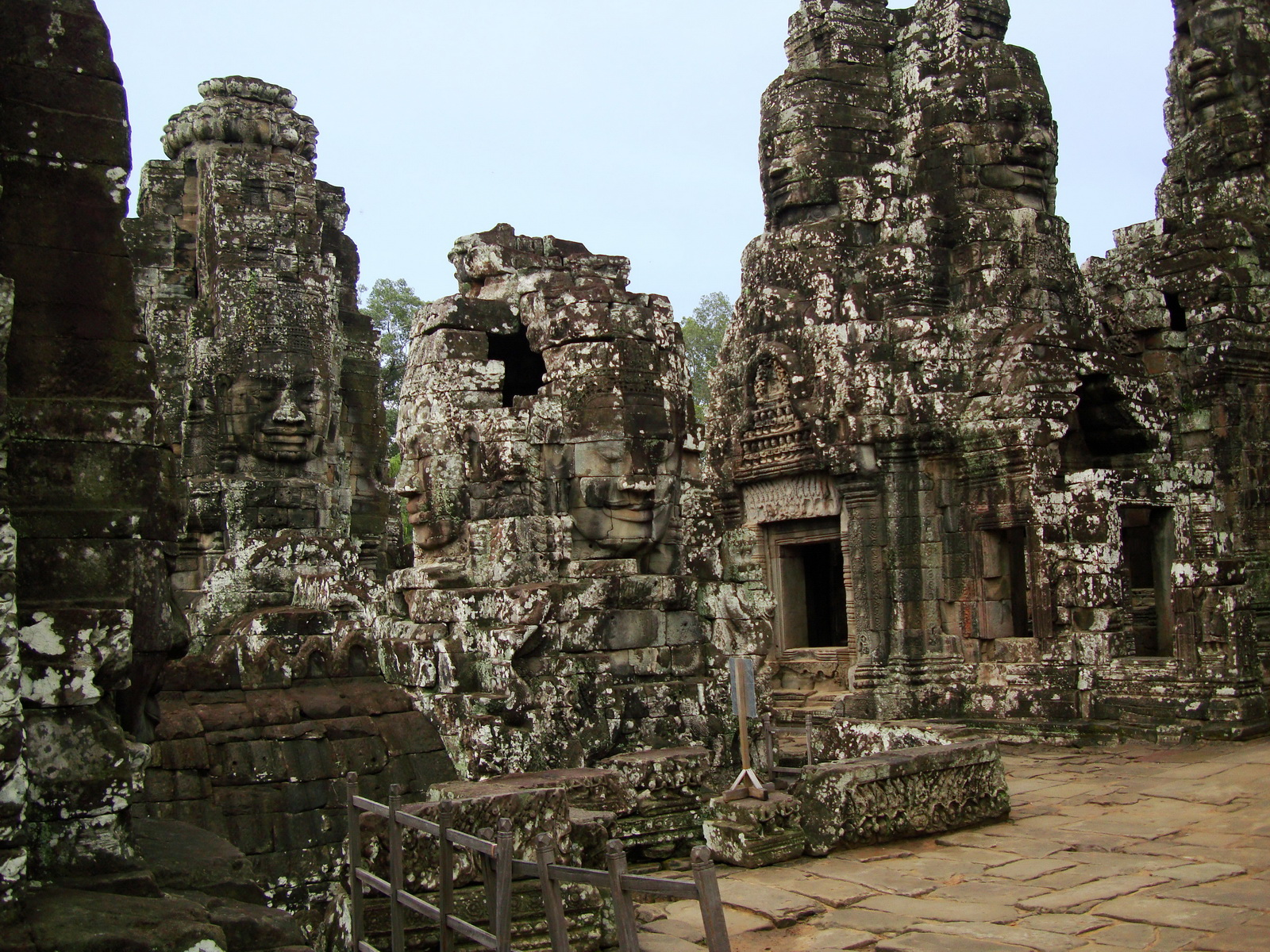 Bayon Temple upper terrace Angkor Siem Reap 01