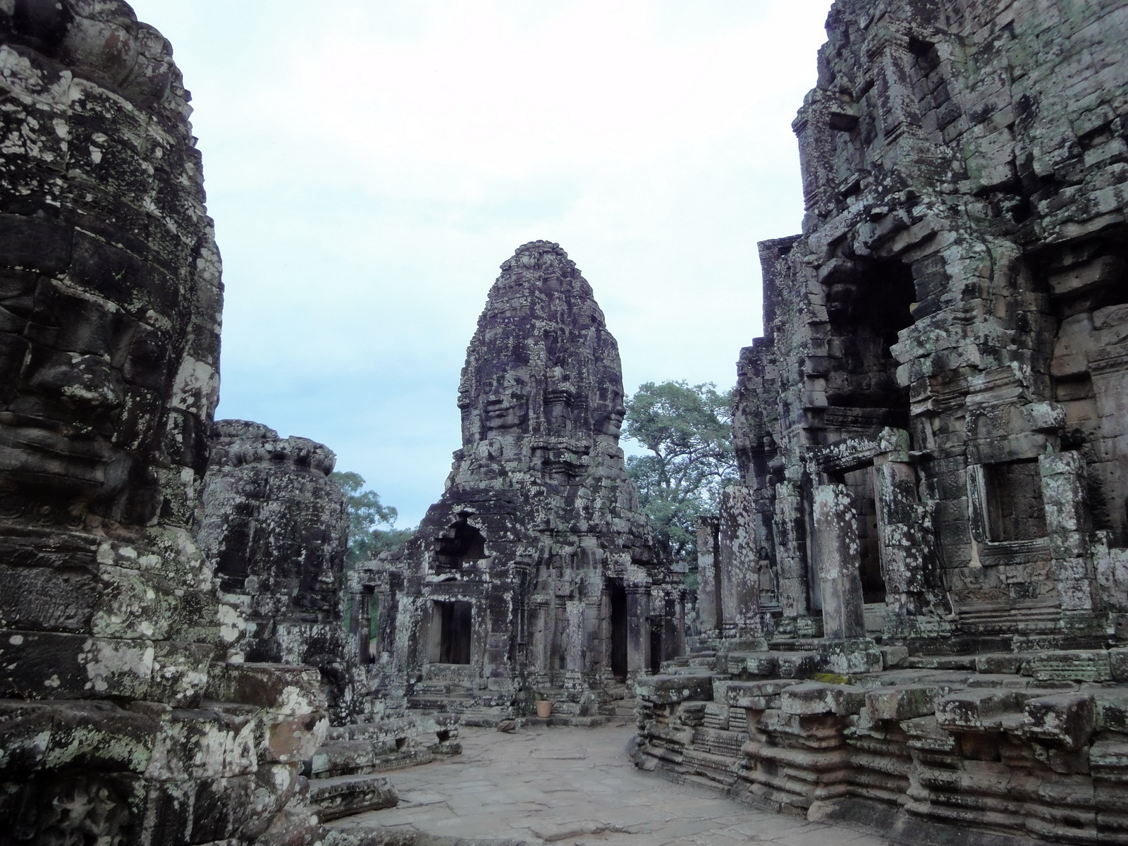 Bayon Temple upper terrace Angkor Siem Reap 02