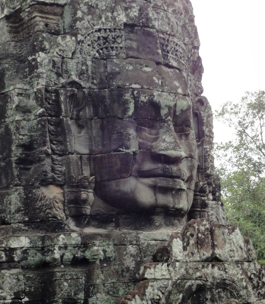 Bayon Temple various aspects face towers Angkor Siem Reap 01