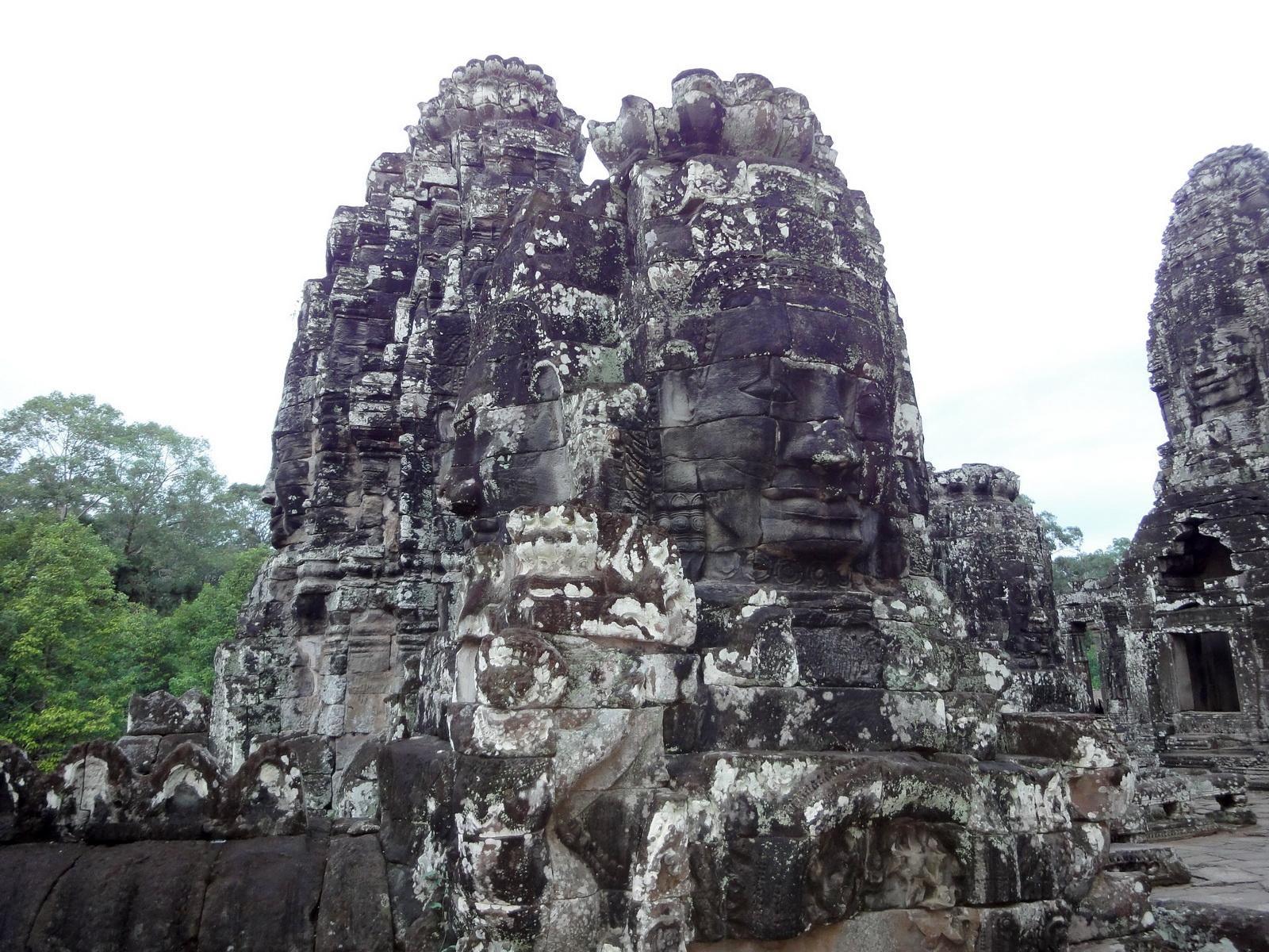 Bayon Temple various aspects face towers Angkor Siem Reap 04