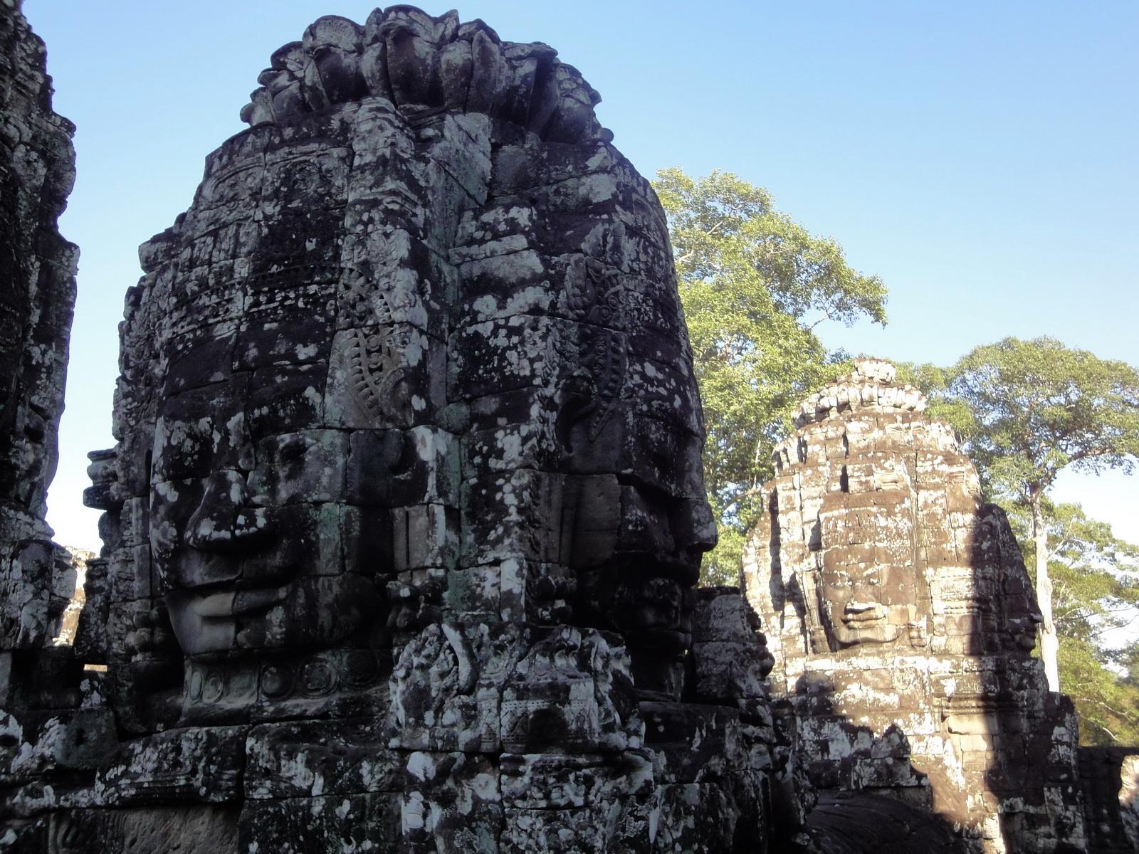Bayon Temple various aspects face towers Angkor Siem Reap 06
