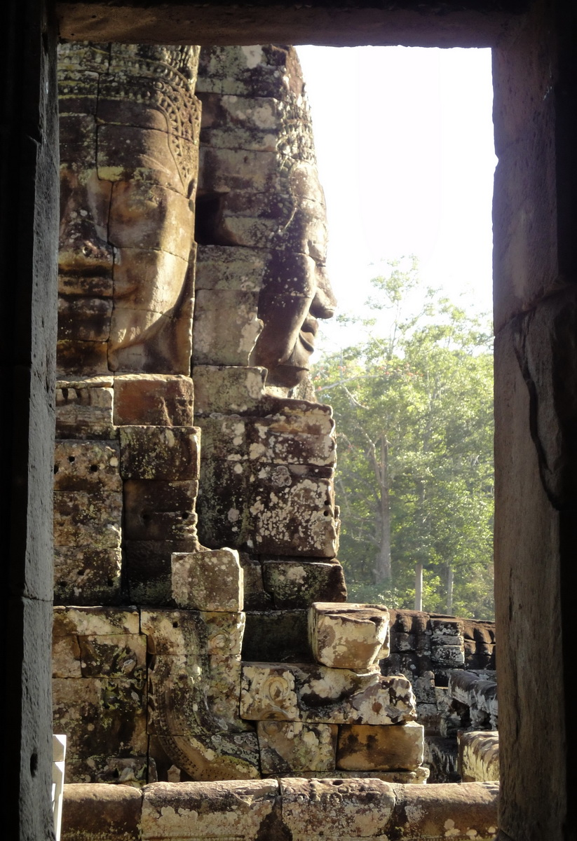 Bayon Temple various aspects face towers Angkor Siem Reap 09