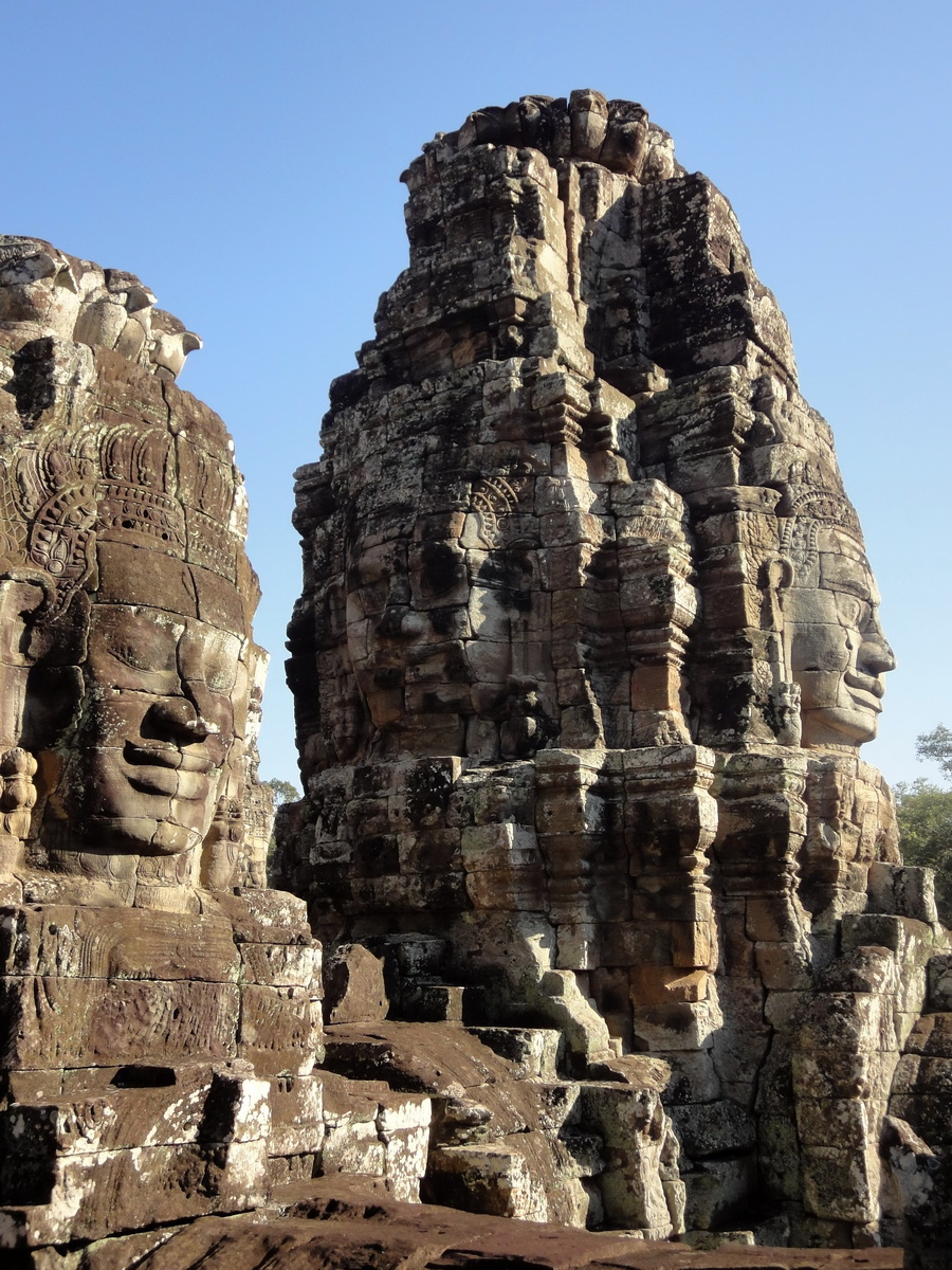 Bayon Temple various aspects face towers Angkor Siem Reap 11
