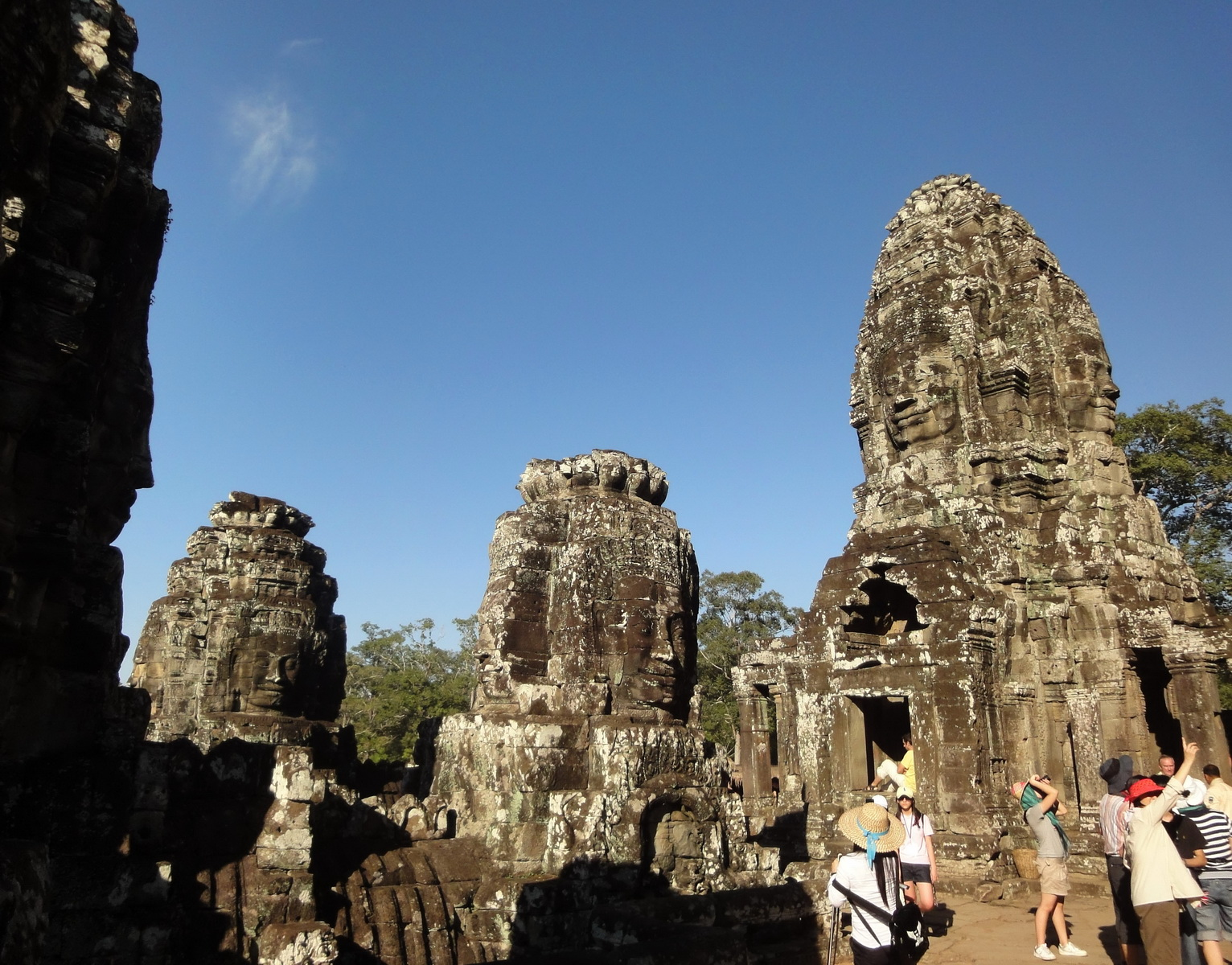 Bayon Temple various aspects face towers Angkor Siem Reap 12