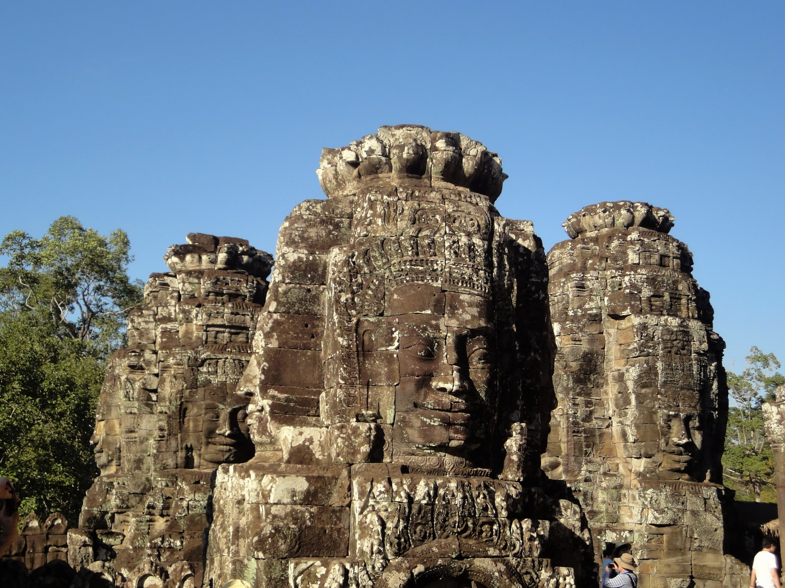 Bayon Temple various aspects face towers Angkor Siem Reap 14
