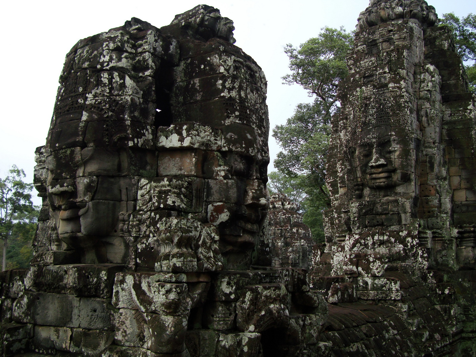 Bayon Temple various aspects face towers Angkor Siem Reap 20