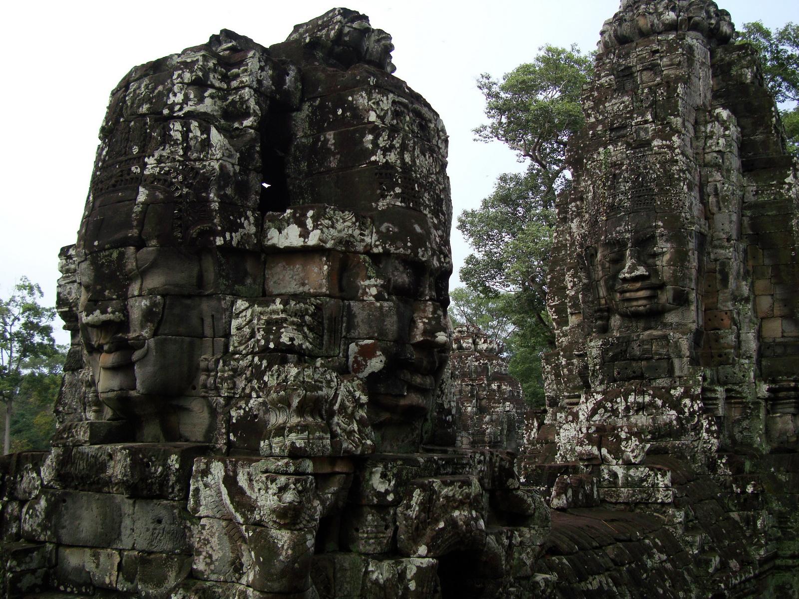 Bayon Temple various aspects face towers Angkor Siem Reap 20
