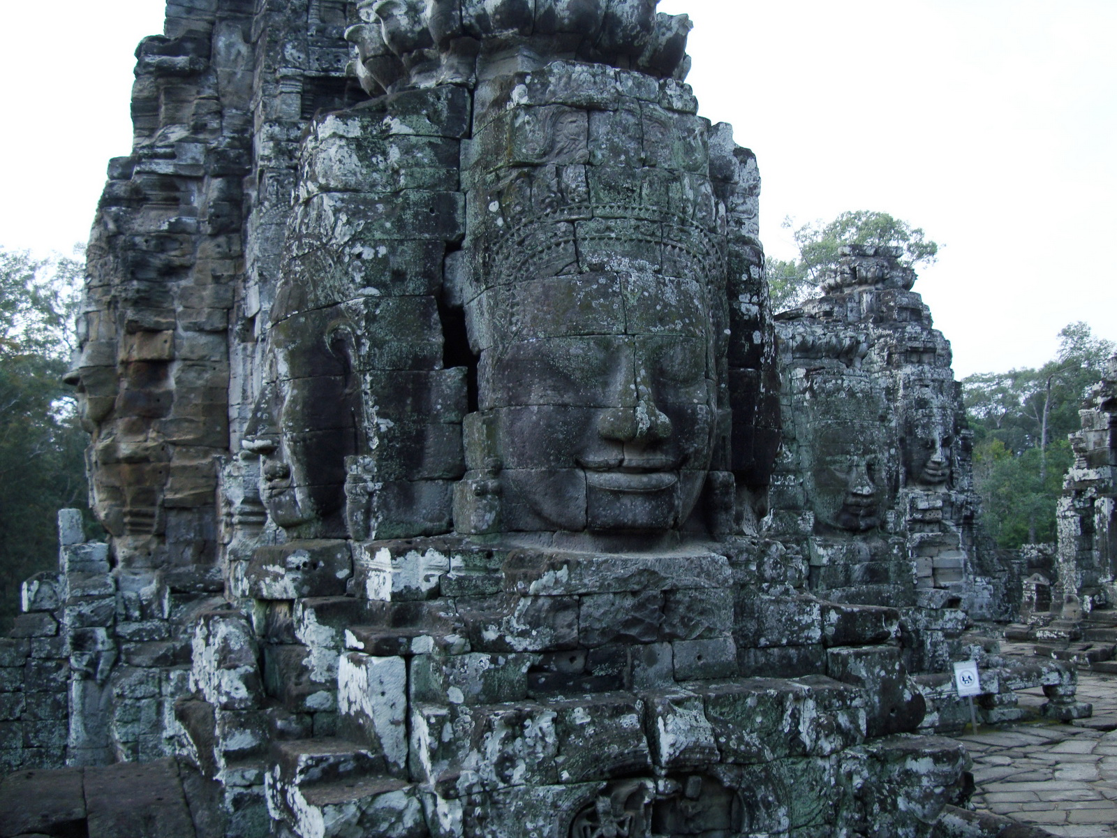 Bayon Temple various aspects face towers Angkor Siem Reap 21
