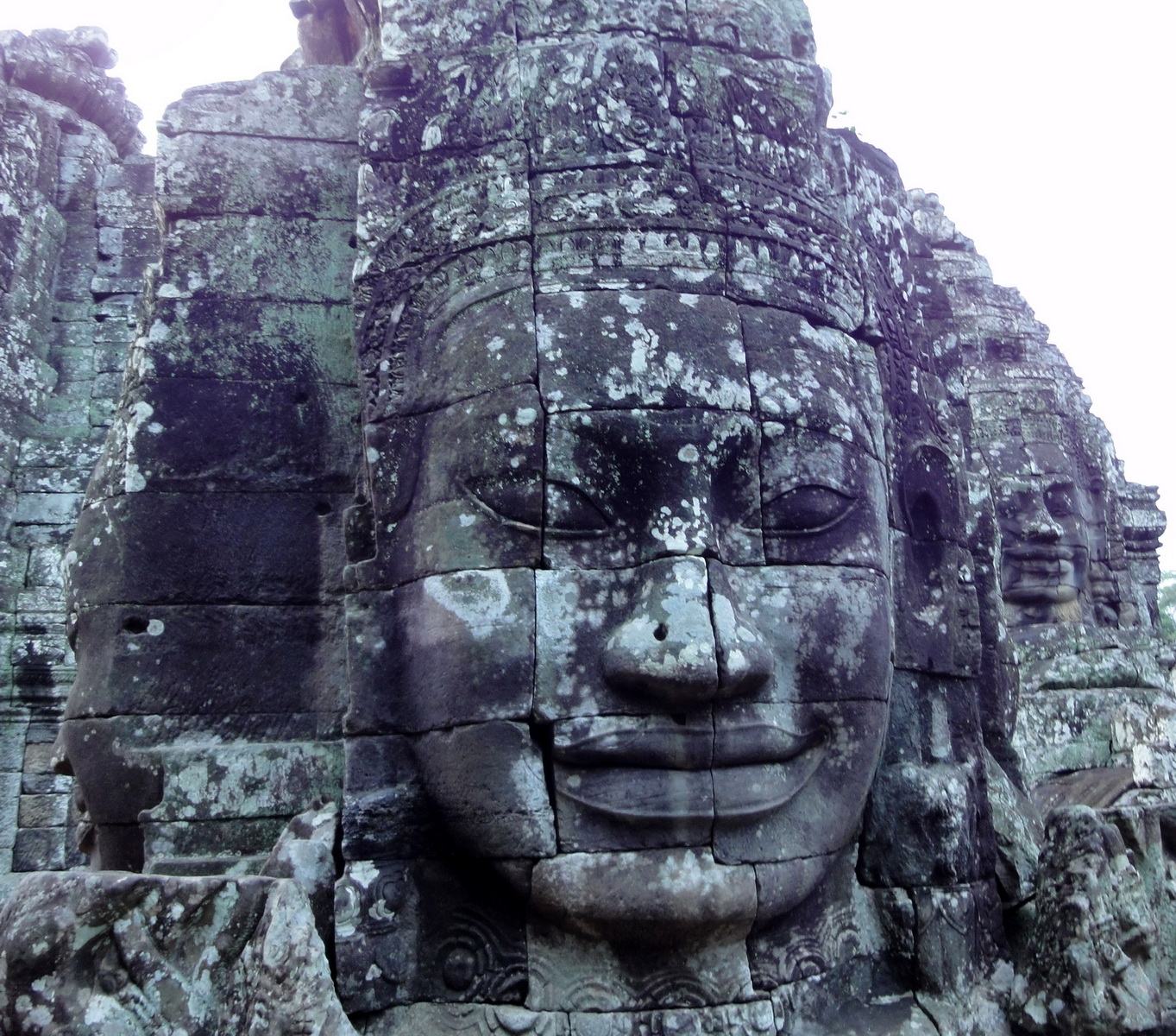 Bayon Temple various aspects face towers Angkor Siem Reap 34