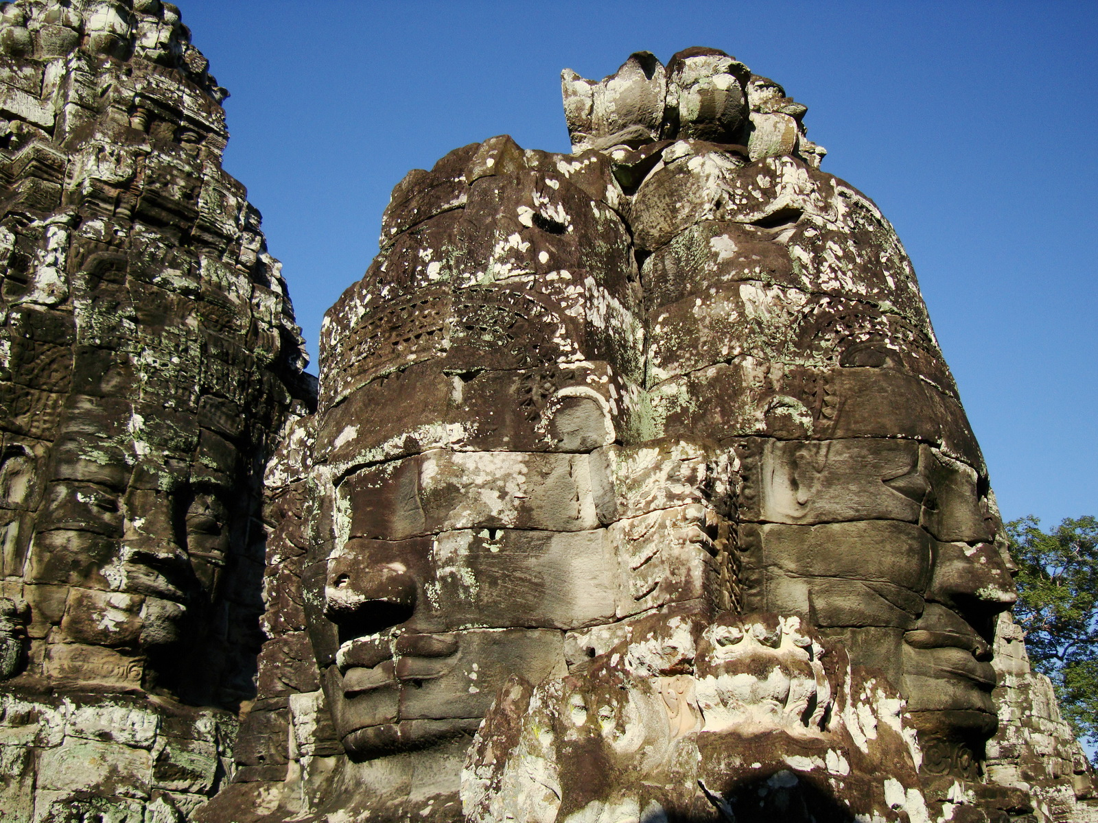Bayon Temple various aspects face towers Angkor Siem Reap 40