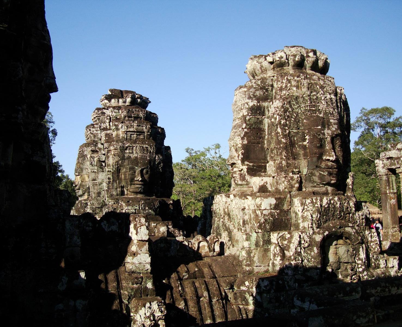 Bayon Temple various aspects face towers Angkor Siem Reap 41