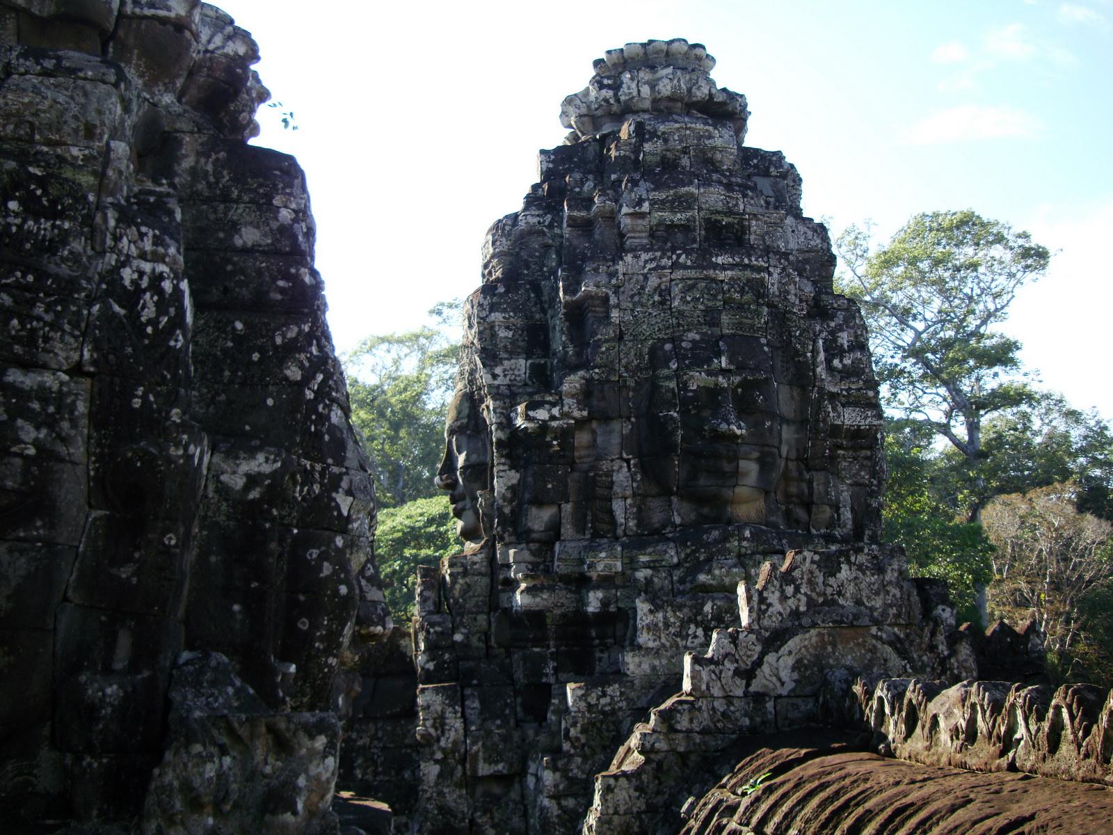 Bayon Temple various aspects face towers Angkor Siem Reap 42