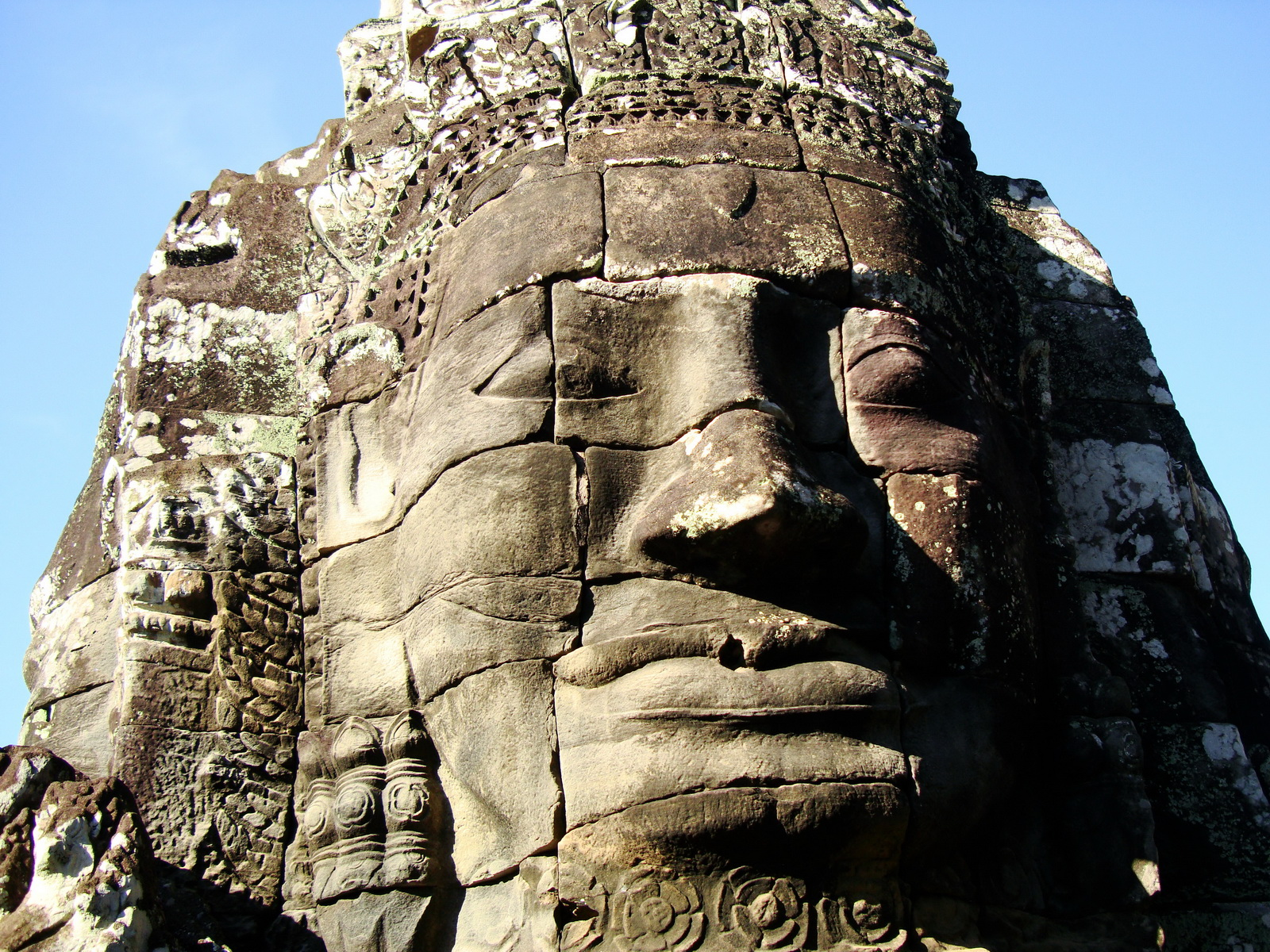 Bayon Temple various aspects face towers Angkor Siem Reap 44