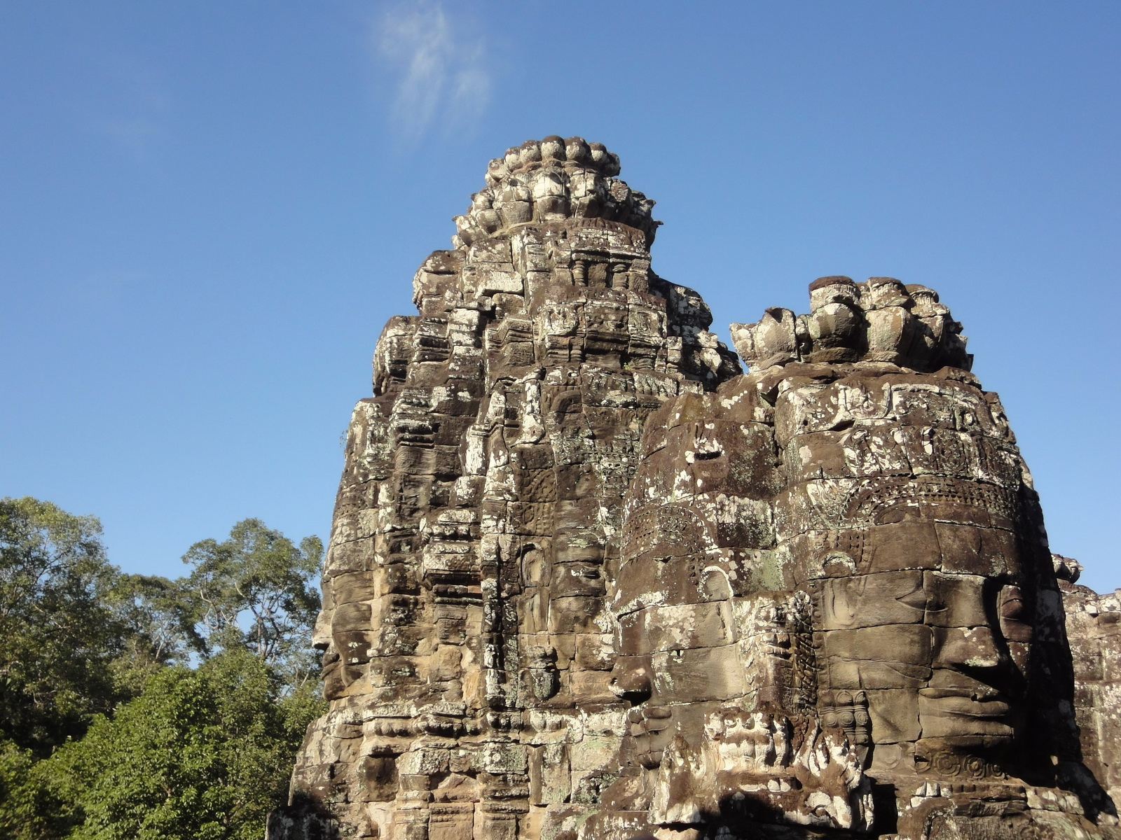 Bayon Temple various aspects face towers Angkor Siem Reap 46