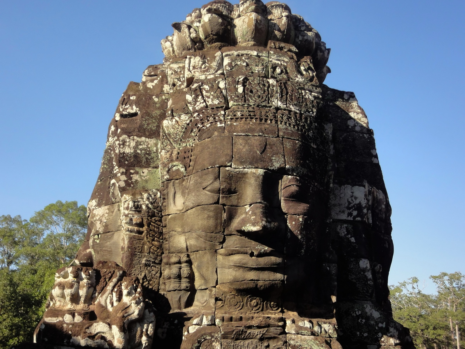 Bayon Temple various aspects face towers Angkor Siem Reap 47