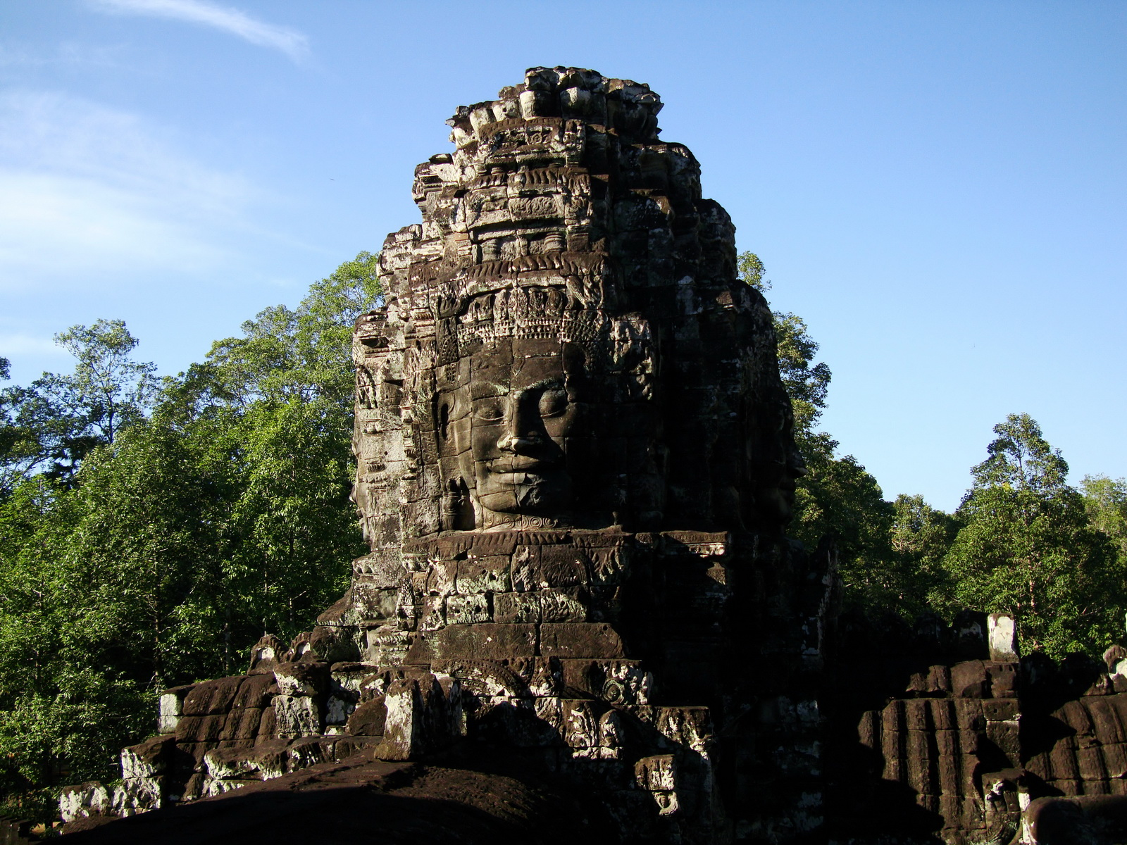 Bayon Temple western gallery inner middle face towers Angkor Siem Reap 01