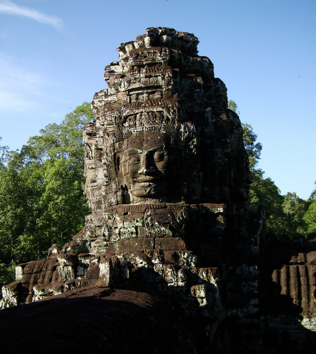 Bayon Temple western gallery inner middle face towers Angkor Siem Reap 02
