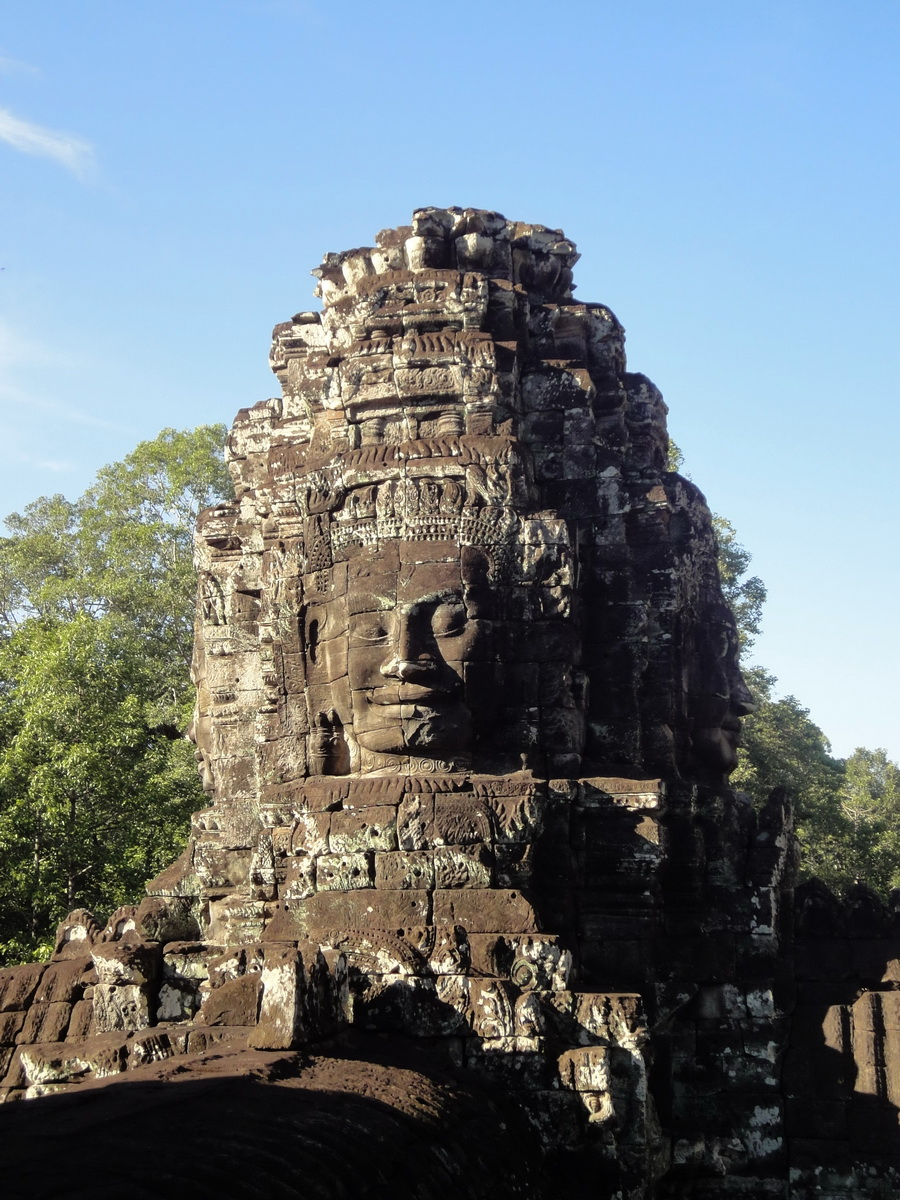 Bayon Temple western gallery inner middle face towers Angkor Siem Reap 03