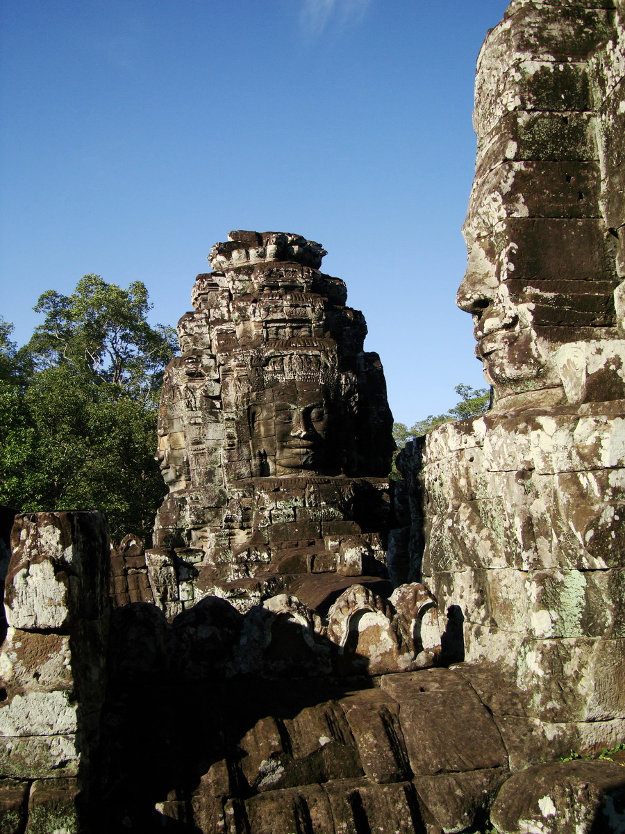 Bayon Temple western gallery inner middle face towers Angkor Siem Reap 06