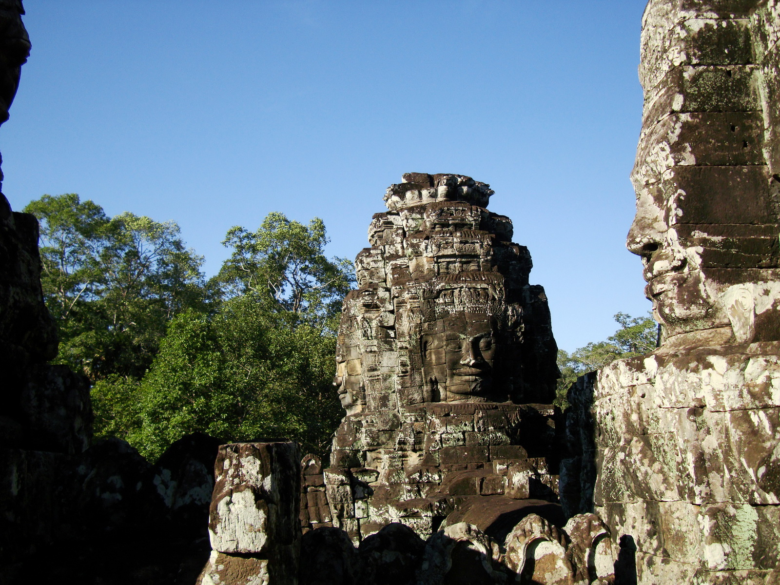 Bayon Temple western gallery inner middle face towers Angkor Siem Reap 08