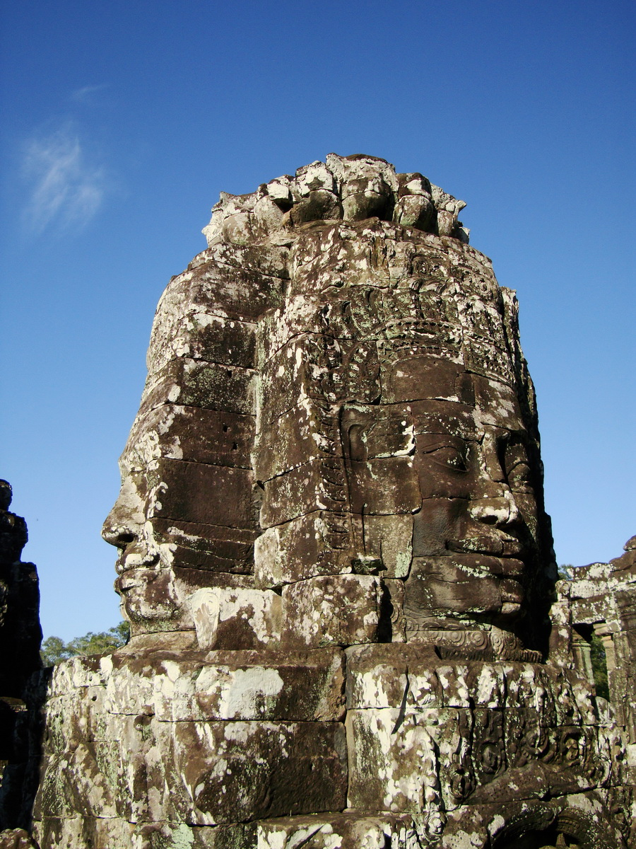 Bayon Temple western gallery inner middle face towers Angkor Siem Reap 10