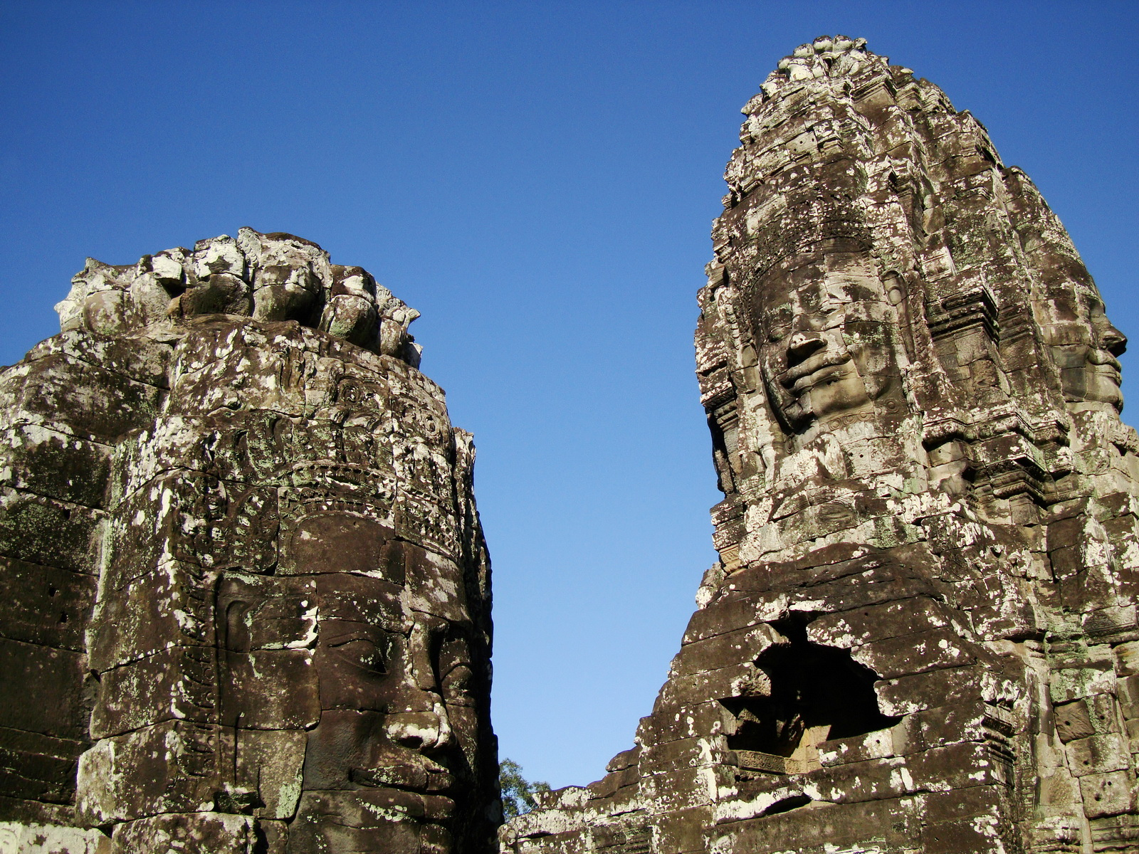 Bayon Temple western gallery inner middle face towers Angkor Siem Reap 11