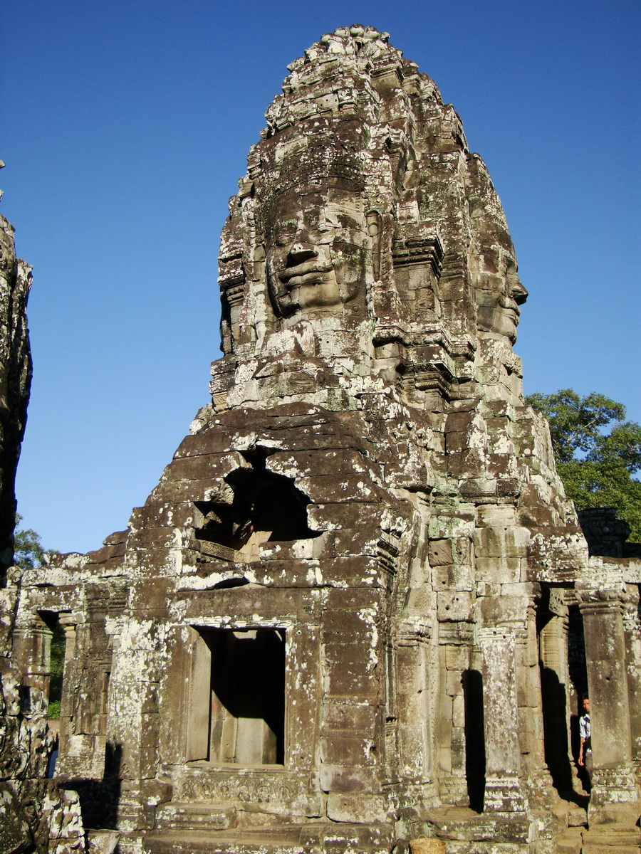 Bayon Temple western gallery inner middle face towers Angkor Siem Reap 12