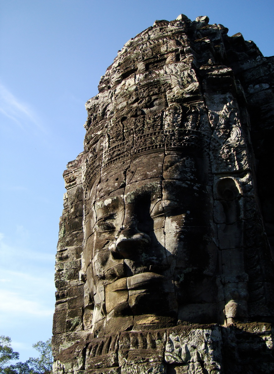 Bayon Temple western gallery inner middle face towers Angkor Siem Reap 13