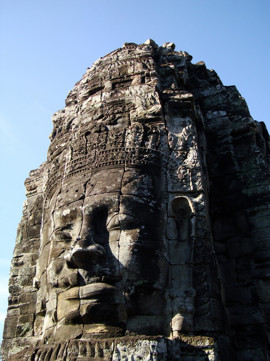 Bayon Temple western gallery inner middle face towers Angkor Siem Reap 14