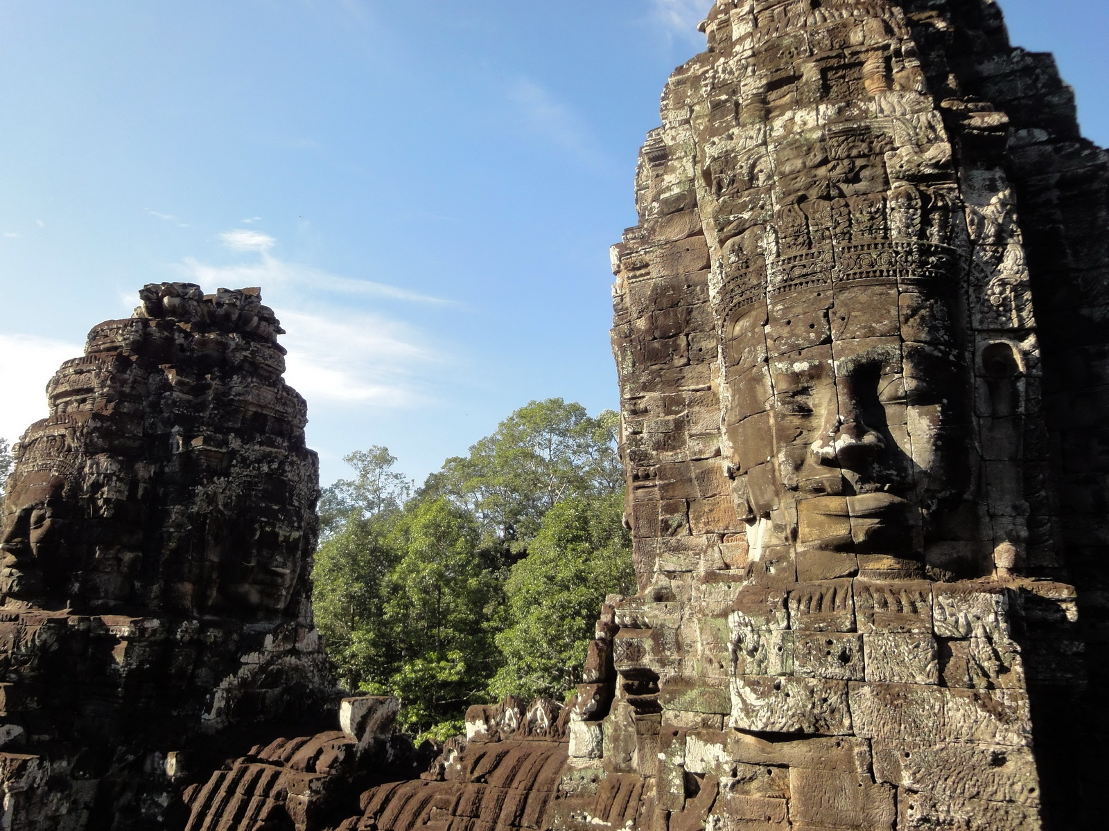 Bayon Temple western gallery inner middle face towers Angkor Siem Reap 18