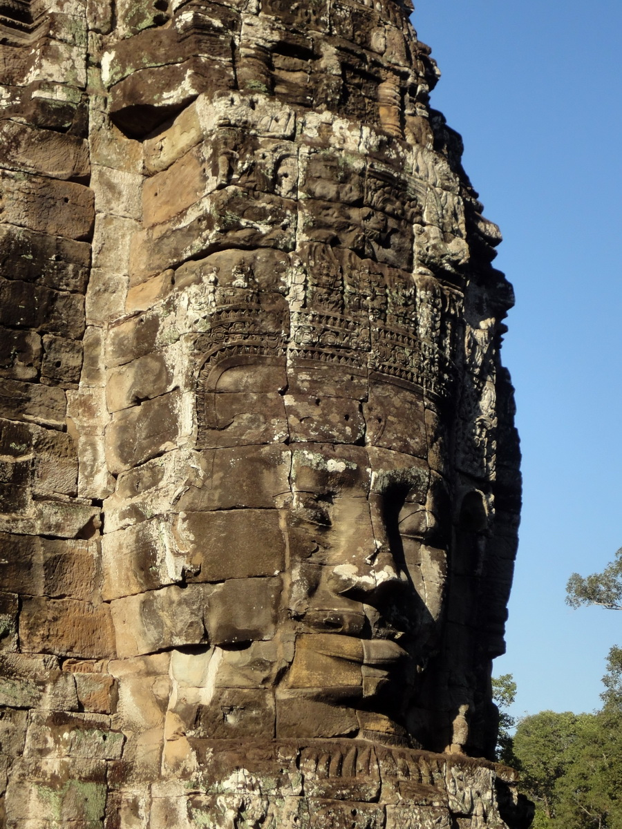 Bayon Temple western gallery inner middle face towers Angkor Siem Reap 19