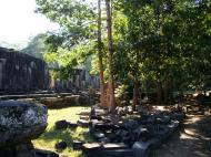 Asisbiz Bayon Temple NE panoramic views of NE corner outer walls Angkor Jan 2010 07