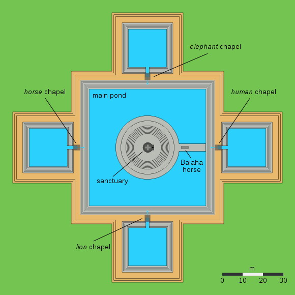 1 Map layout of Neak Pean Temple 0A