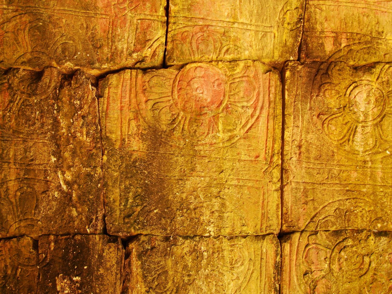 Neak Pean Temple Bas reliefs fire element lion chapel 01