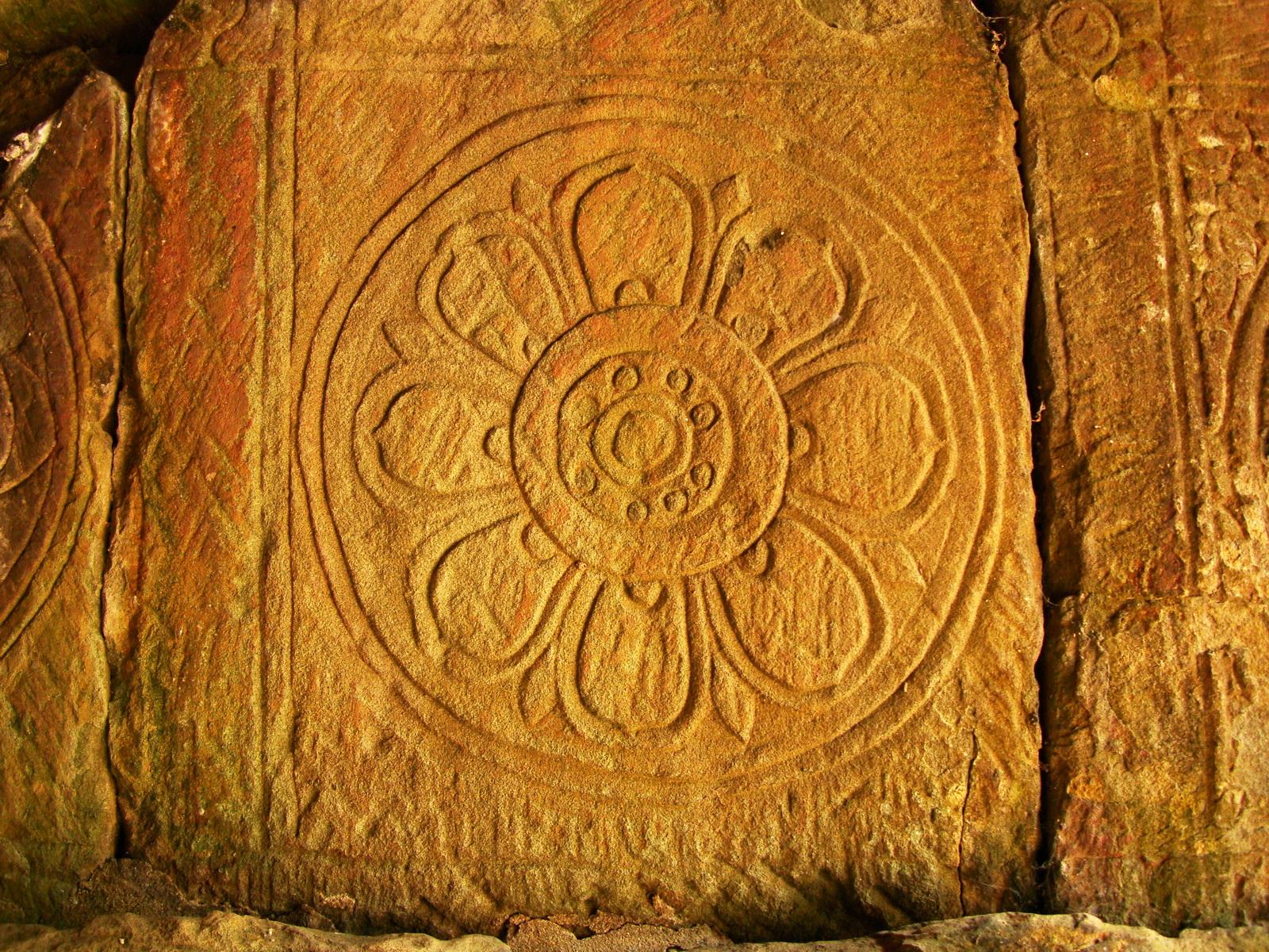 Neak Pean Temple Bas reliefs wind element horse chapel 01