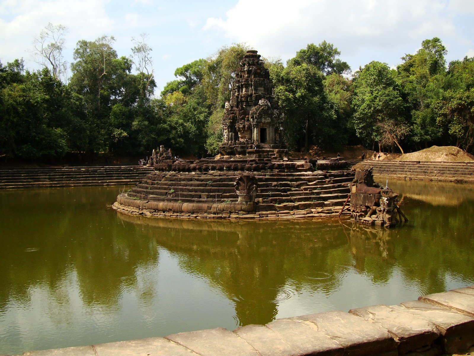 Neak Pean Temple sanctuary and artificial pond 10