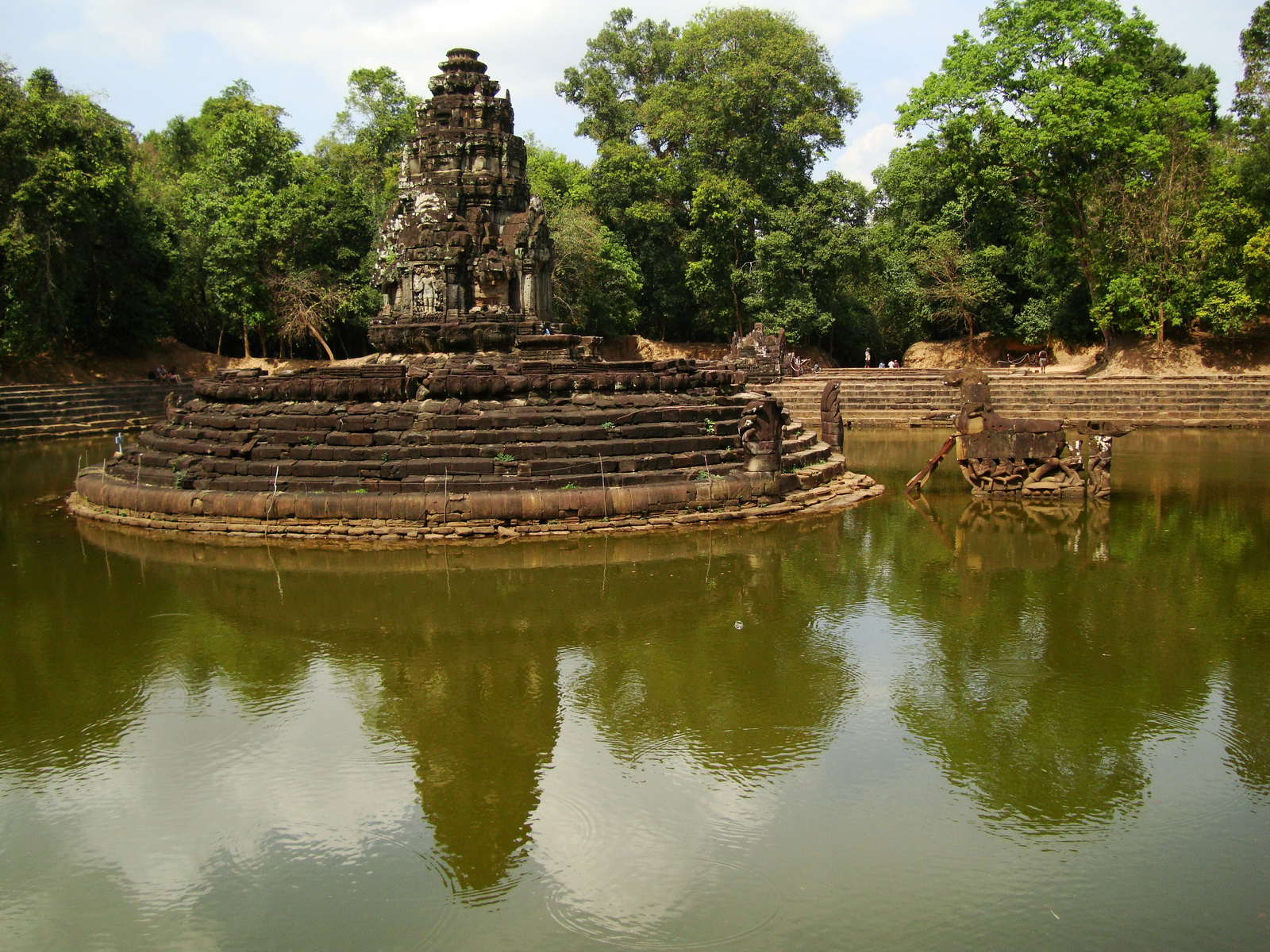 Neak Pean Temple sanctuary and artificial pond 12