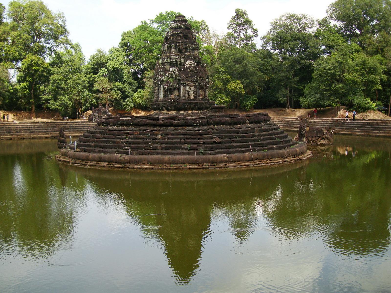 Neak Pean Temple sanctuary and artificial pond 13