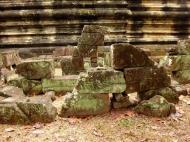 Asisbiz Phimeanakas stones marked for restoration Hindu Khleang style 02