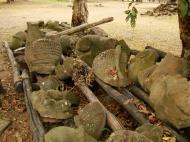 Asisbiz Phimeanakas stones marked for restoration Hindu Khleang style 05