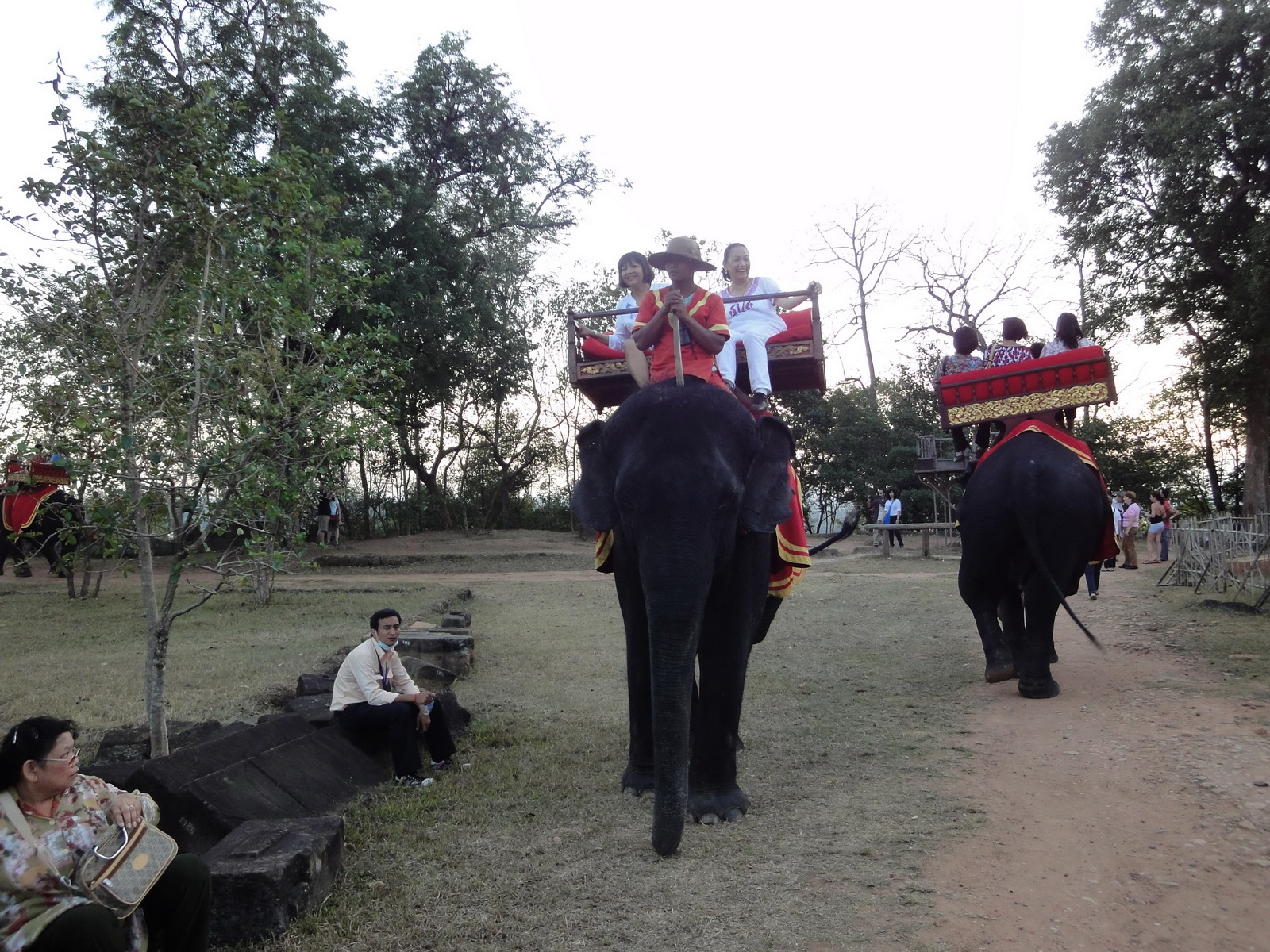 Phnom Bakheng Temple Camdodian elephant ride Angkor 04