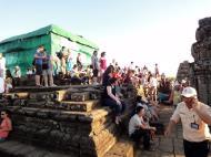 Asisbiz Phnom Bakheng Temple tourist sunset rush Angkor 04