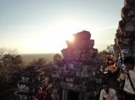 Asisbiz Phnom Bakheng Temple tourist sunset rush Angkor 15