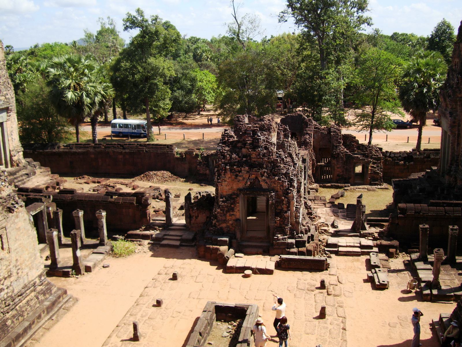Facing East Pre Rup Temple inner courtyard East Baray 2010 01