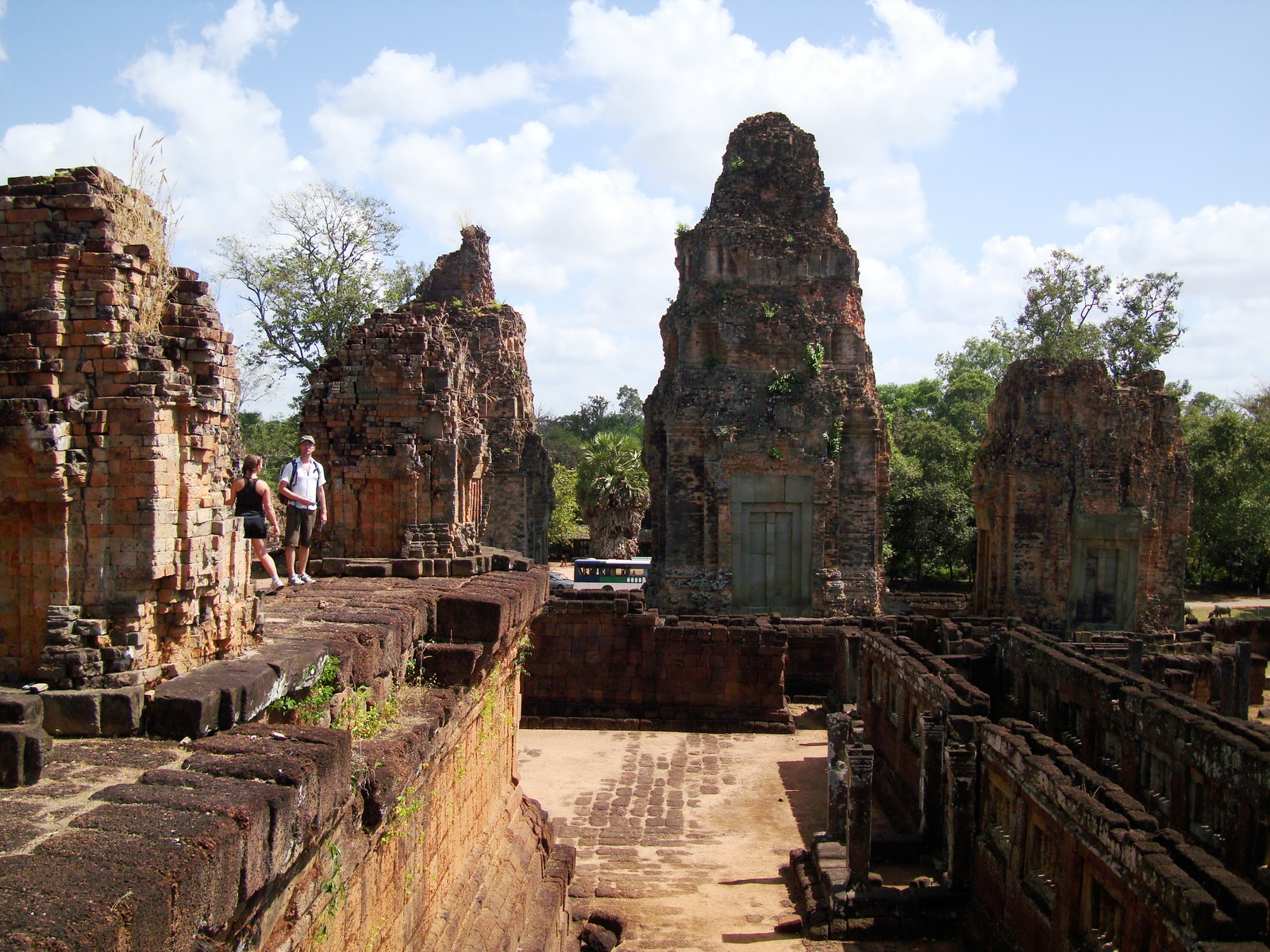 Facing East Pre Rup Temple three towers East Baray 01