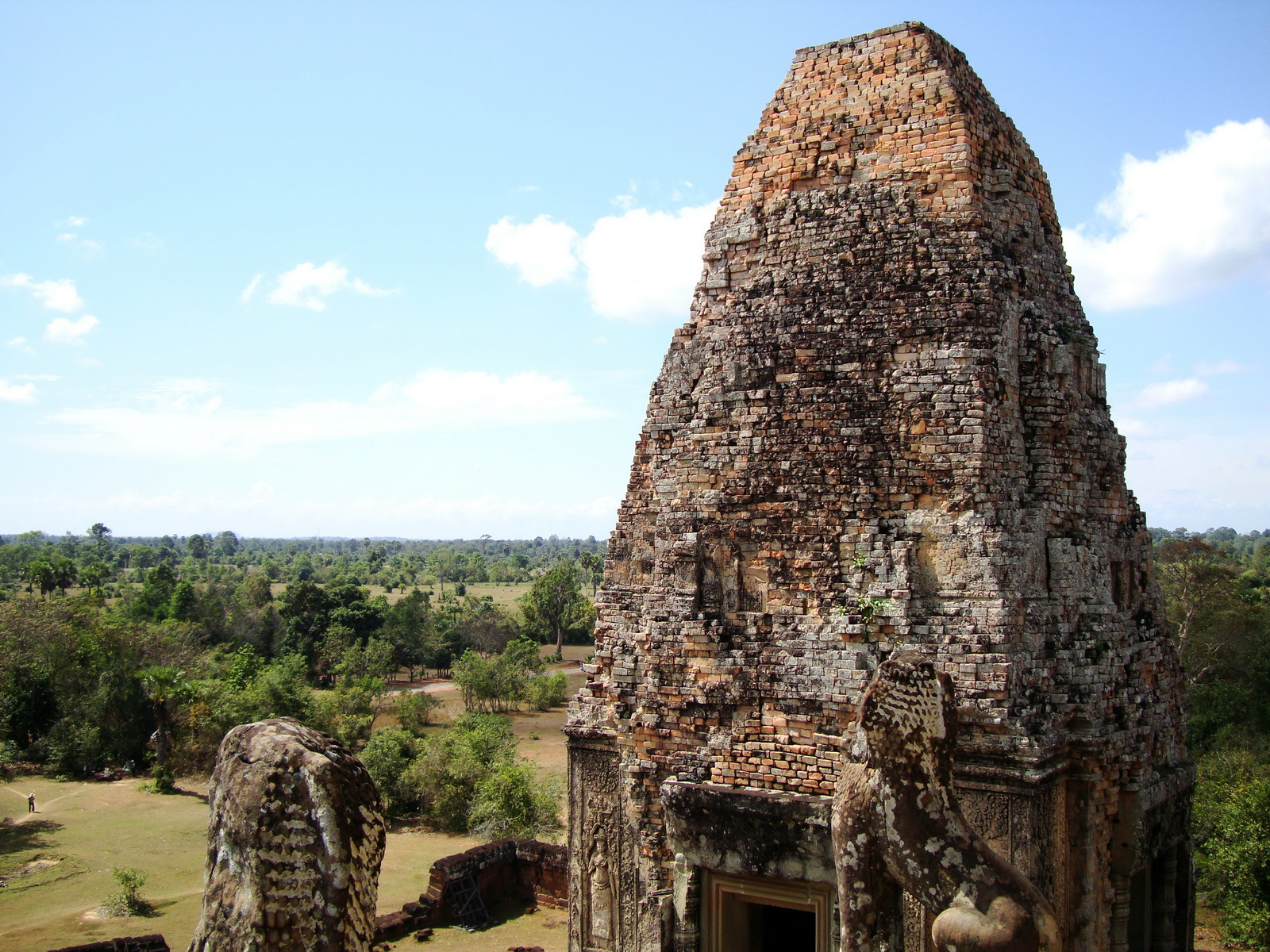 Facing NW Pre Rup Temple upper courtyard tower East Baray 2010 05